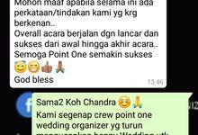 Testimoni Chandra & Elisa by Point One Wedding Organizer