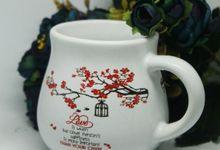MUG GENTONG MINI DESIGN WEDDING ANDREW & PRILLY by Mug-App Wedding Souvenir