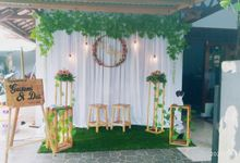 Engagement decoration by Kyukyu organzier