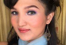 Unicorn Eyeshadows Makeup due to Covid 19 Pandemic by Hana Gloria MUA