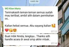 testi dwi & maria by Point One Wedding Organizer