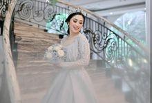 Soft Grey Gown by Aisya Argubi