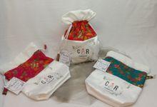 Muna Bucket Drawstring Pouch Batik Cap Print Custom by Marvala Souvenir