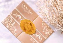 ADE & ELISABETH (Beige Ornament Gate Badge Luxury) by Sanggar Undangan
