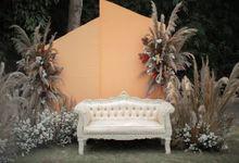 Detail Dekorasi Outdor by Kinang Kilaras Wedding