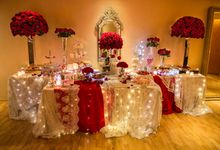 Luxury Christmas Red & Gold Wedding by Diamond Events
