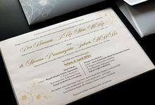 The wedding of Dea & Novian by Moria Invitation