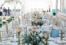 Charming Airy-blue Clifftop Wedding at Sunset Plenilunio Bali by Silverdust Decoration