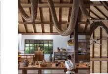 Hanging Sculpture in bronze leaf by Make A Scene! Bali