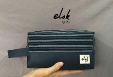 PREMIUM Pouch Boxy Kulit & Tenun by Elok by Ibu