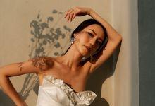 Drapery Wedding Dress by Vica Wang