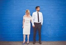 Bold Mod Elopement by Amber Elaine Photography
