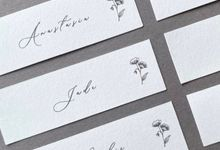 Floral Place Cards by Lustre Peach Paperie