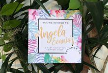 ANGELA EVANIA 17th BIRTHDAY by Invitation by Pipin