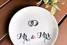 Personalised Wedding Ring Bearer by The Wedding Artist
