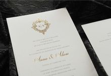 Anna & Adam by Vinas Invitation