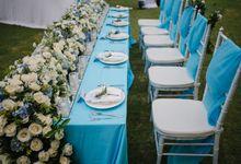 Cheerful Blue Decoration by Bali Wedding Planner