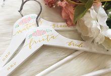 Wedding hangers by Eunike Arts & Calligraphy