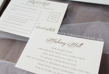 David & Holly by Vinas Invitation