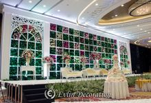 flowery Themed Decoration by Skenoo Hall Emporium Pluit by IKK Wedding