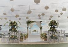 Water Wedding Decoration by Jc Florist Bali