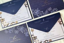 Blue Heritage by Trouvaille Invitation