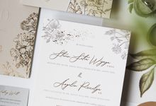 Steven & Angelin Invitation Suite by Sho Paper
