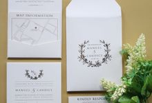 Manuel & Candice by Vinas Invitation
