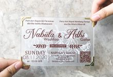 Acrylic Invitation with Glitter Layer (Small) by Invitation by Pipin