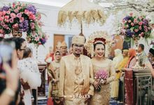 Aris & Bena Wedding - Reception by  Menara Mandiri by IKK Wedding (ex. Plaza Bapindo)
