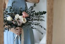 PRESERVED FLOWER BRIDAL BOUQUET by Timeless fleur