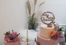 Lilac Wedding Cake by Ame Cakery