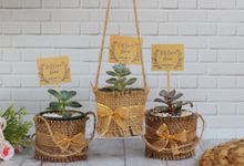 Wedding Of Andreas & Dewi - Sukulen Goni Pita Mini by Greenbelle Souvenir