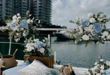 Proposal on a Yacht One15 Marina Blue Coastal Themed Proposal by Lily & Co.