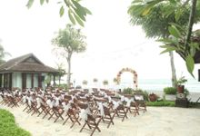 Tropical Simple Wedding Setup by Sudamala Resorts