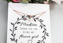 Flower Girl Necklace by Sixpence Boutique & Co