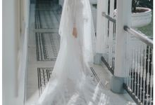 the wedding of  Michael & Chelline by phantasia bridal