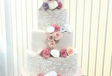Delicate Pink and Lace by sugarbox patisserie