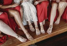 Henna on Feet for Bride and Bridesmaids by Nirvana Henna by Shinta