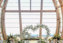 Modern-tradisional Tropical Greenery Wedding Ceremony at Kempinski Apurva Bali by Silverdust Decoration