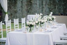 Elegant alfresco greenery wedding at The Royal Santrian by Silverdust Decoration