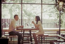 Prewedding of Dinda-Kristianto at Alissha & Six Ounces Coffee by Alissha Bride