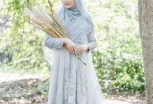 Ottoman Series - Blue Ice Resepsi by LAKSMI - Kebaya Muslimah & Islamic Bride