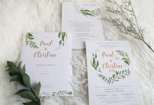Paul & Christine Wedding Invitation by Paperstory