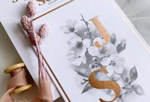 Cherry Blossoms by Trouvaille Invitation
