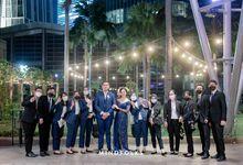 Outdoor Wedding Mingle of Olga & Dito by Financial Hall by IKK Wedding