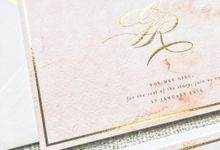 Romantic Blush Watercolour Monogram by Spinsugar Stationery