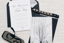 Modern Black and Silver by Spinsugar Stationery