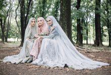 Dress Gaun Resepsi Gamis Ottoman Series by LAKSMI - Kebaya Muslimah & Islamic Bride