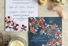 Navy Blue Chinoiserie by Trouvaille Invitation
